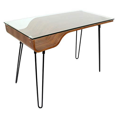 WOYBR OFD WL Steel, Glass, Bent Wood Avery Desks ()