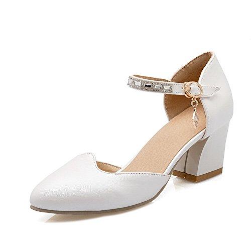 White Fashion DIU00630 Womens Toe Sandals Sandals Urethane Closed AN v8Zgqaq