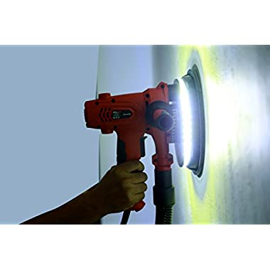 iBELL Dry Wall Sander DS80-70, 180MM, 800W, 1200-2300rpm with Vacuum and LED Light 12