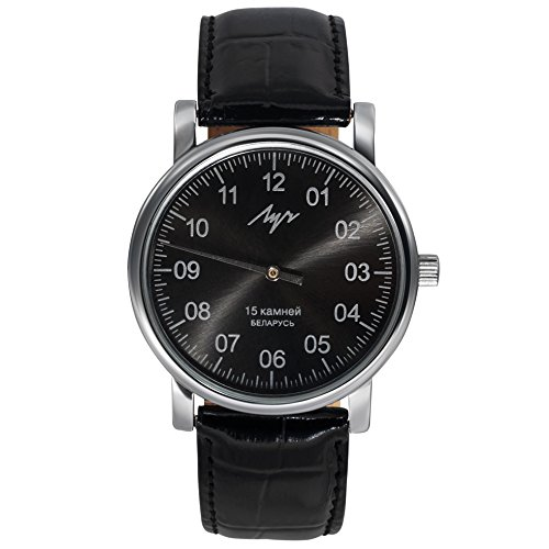 - Unique Authentic Russian Black Face Wind up Watch Luch with ONE Hand