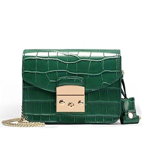 Honeymall Borse della borsa della borsa della spalla del messaggero del Crossbody del cuoio del Faux delle donne di modo Nuovo Verde Finishline En Línea CmkaLui