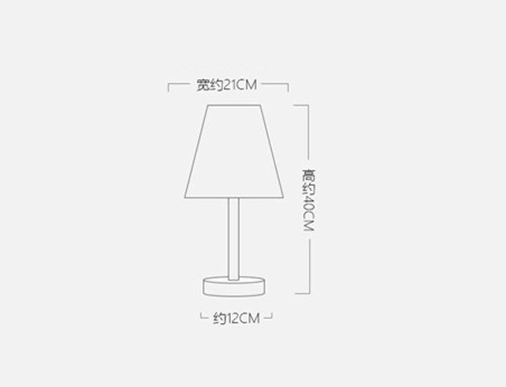 Simple Modern Solid Wood Table Lamp Bedroom Bedside Creative Fashion Warmth Living Room Bedside Led Decorative Lights Energy Saving and Environmental Protection Modern, ChuanHan