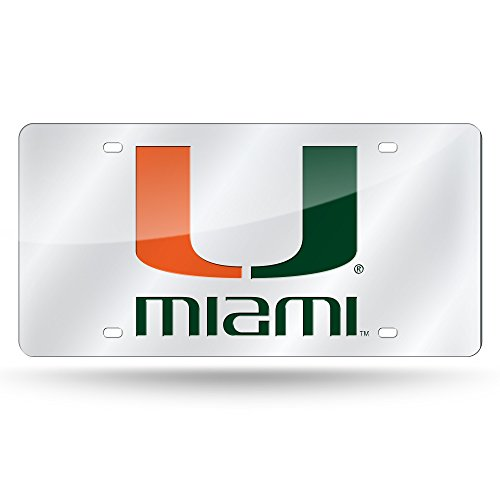 Rico Industries NCAA Miami Redhawks Laser Inlaid Metal License Plate Tag, -