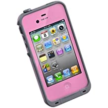 LifeProof FRE iPhone 4/4s Waterproof Case - Retail Packaging - PINK/GREY (Discontinued by Manufacturer)