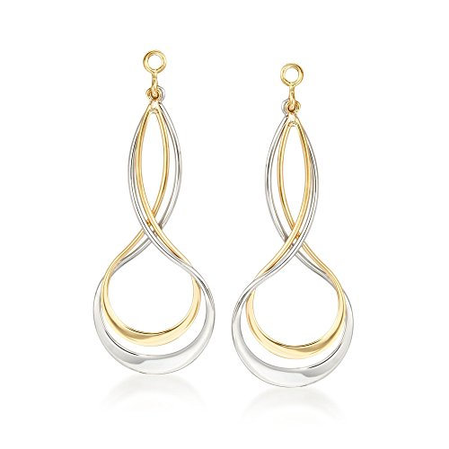 Ross-Simons Sterling Silver and 14kt Yellow Gold Earring Jackets