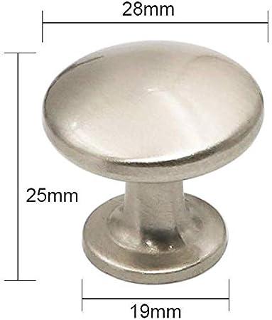London LH6050SNB metal color plateado Pack de 5 Nickel Knob Pomos de metal para puerta de armario