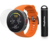 PlayBetter Polar Vantage V Pro Multisport Watch (Orange) Power Bundle Portable Charger & Screen Protectors | GPS & Barometer | Heart Rate