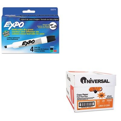 KITSAN83074UNV21200 - Value Kit - Expo Dry Erase Markers (SAN83074) and Universal Copy Paper (UNV21200)