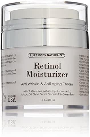 Pure Body Naturals Anti-Aging Retinol Cream, 1.7 Fl. Ounce