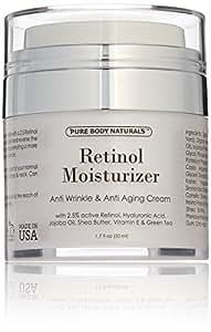 Pure Body Naturals Anti-Aging Retinol Cream, 1.7 Fl. Ounce
