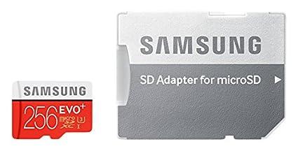 Samsung EVO Plus, Tarjeta de Memoria MicroSD de 256 GB con Adaptador SD (Velocidad de Lectura hasta 95 MB/s, Class 10, Resistente al Agua)