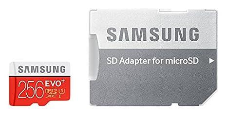 Samsung EVO Plus, Tarjeta de Memoria MicroSD de 256 GB con ...