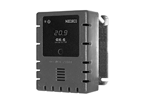 Macurco OX-6 Oxygen O2 (Low Voltage) Fixed Gas Detector Controller Transducer