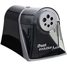 Westcott Electric iPoint Evolution Axis Heavy Duty Pencil Sharpener, Black and Silver