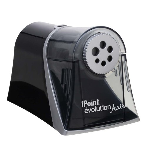 Westcott Electric iPoint Evolution Axis Heavy Duty Pencil Sharpener, Black and - Silver Electric Sharpener
