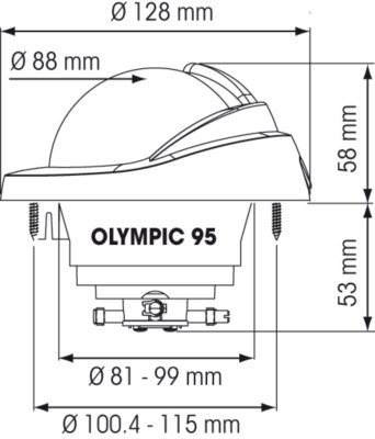 NAUTOS 56978 - OLYMPIC 95 COMPASS - PLASTIMO by Nautos