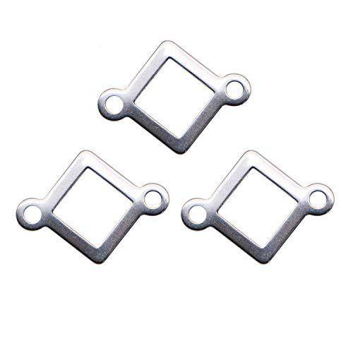 JETEHO 30pcs Hollow Square Connectors Charm for DIY Bracelet Necklace Jewelry Findings Connector Link Charms