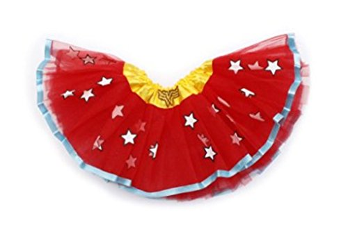 [Rush Dance Superhero Halloween Girls DressUp Princess Fairy Costume Recital Tutu (Wonder Woman)] (Womens Tank Dress Wonder Woman Costumes)