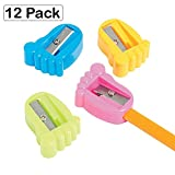 Plastic Feet Pencil Sharpeners - Pack Of 12 - 1.5 Inches Assorted Colors - For Kids Boys And Girls School Supplies Great Party Favors, Bag Stuffers, Fun, Gift, Prize, School Supplies - By Kidsco