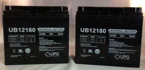 UB12180 SLA 12V 18AH T4 TERMINAL - PACK OF 2 by Universal Power Group