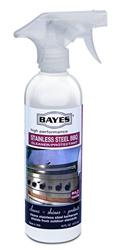 Bayes Premium Stainless Steel BBQ Cleaner Spray and Protectant, 16 oz, Pack of 6 ()