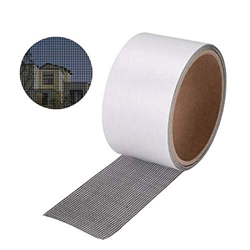 Door Window Screen - Anti Mosquito Mesh Sticky Wires Patch Repair Tape Summer Screen Window Door Netting Broken Holes - Outside Trucks Window Screens Expandable Camping Homes Dogs Kits Adjustable
