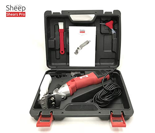 Sheep Shears Pro 110V 500W Professional Heavy Duty Electric Shearing Clippers with 6 Speed, for Shaving Fur Wool in Sheep, Goats, Cattle, and Other Farm Livestock Pet, with Grooming Carrying Case CE by Sheep Shears Pro (Image #1)