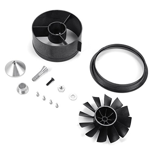 XCSOURCE 64mm Duct Housing Fan 12-Blade Prop Unit Spare Parts for RC EDF Jet Airplane RC496 ()