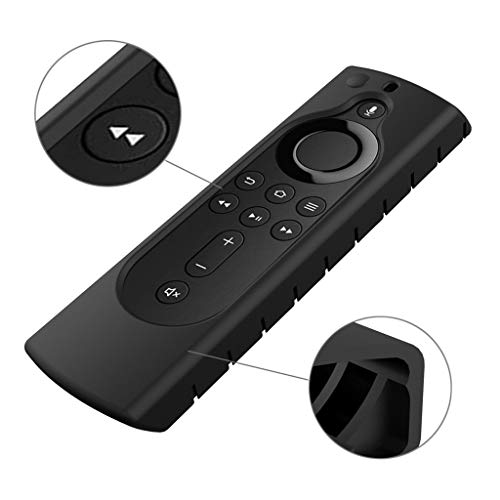Huangou ❤❤ Silicone case ❤❤ for Amazon Fire TV Stick 4K TV Stick Remote Silicone Case Protective Cover Skin (Black, Free)