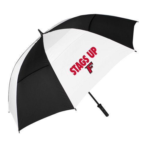 フェアフィールド62インチブラック/ホワイト傘' Stags Up '   B01HRE5402