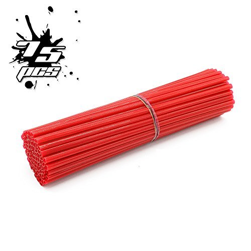 Tires Bike Red Dirt - 72 Pcs Motorcycle Bicycle Spoke Skins Covers Wraps Wrench 8