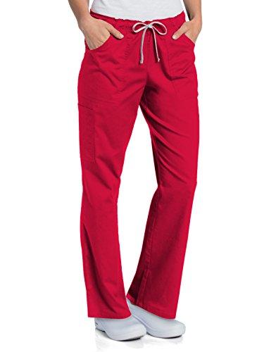 Landau All Day 2035 Women's Full Elastic Cargo Pant True Red MT ()
