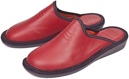 Nordika Pantofole Donna (42, Pelle Rosso)  Flf5kX