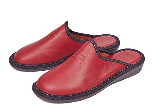 Rosso Pelle 36 Nordika Pantofole Donna BRwRqAFfn