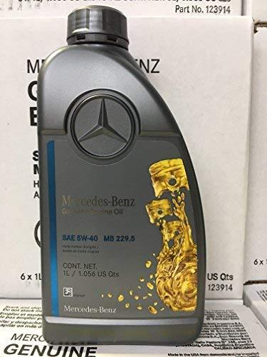 Genuine Mercedes Engine Oil (5W-40) 1 Quart, (Pack of 6) MB SPEC 229.5 (Best Engine Oil For Mercedes)