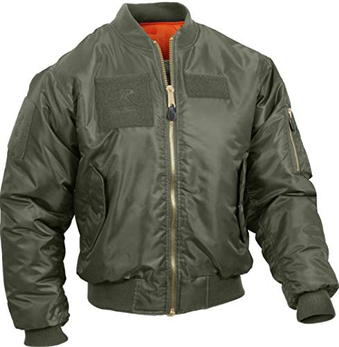 Jacket Mens Military Air Force Style MA-1 Flight Jacket with 5 Removable Patches Get 1 Pcs (Small, Sage Green)