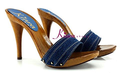 kiara shoes KM7101-DENIM, Mules pour Femme