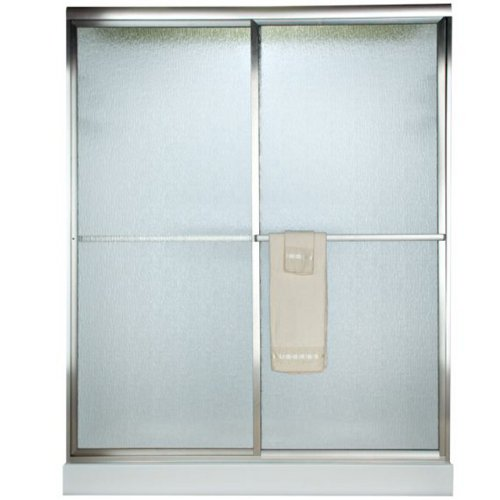 American Standard AM00730400.213 Prestige 71-1/2-Inch Framed By-Pass Shower Doors with Clear Glass, Silver Shine