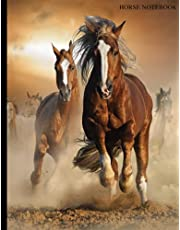 Horse Notebook: Wide ruled cute composition notebook   Back to School Composition Notebook Wide Ruled   Lined Journal for Adults   Reading Log Book ... and Lined Journal   Notebook for girls