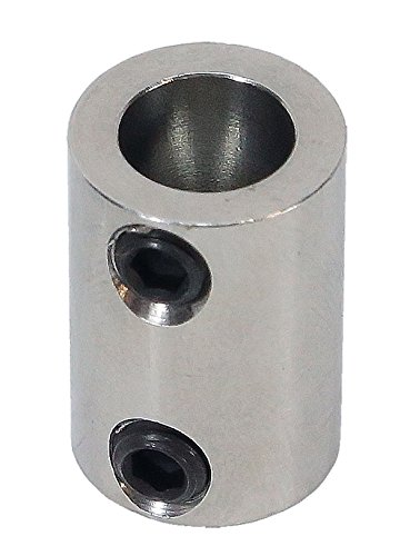 1/8 inch to 8mm Stainless Steel Set Screw Shaft Coupler ServoCity 625166