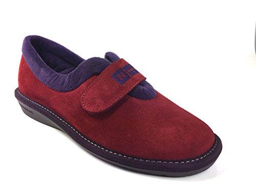 Velcro Fastening Red 6348 Women's Nordika Full Slipper IxwB6qZZX