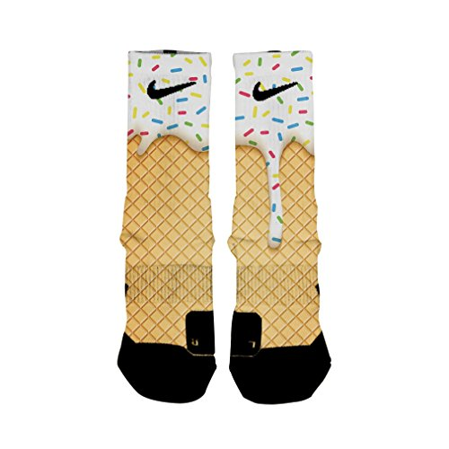 HoopSwagg Ice Cream Custom Elite Socks Small