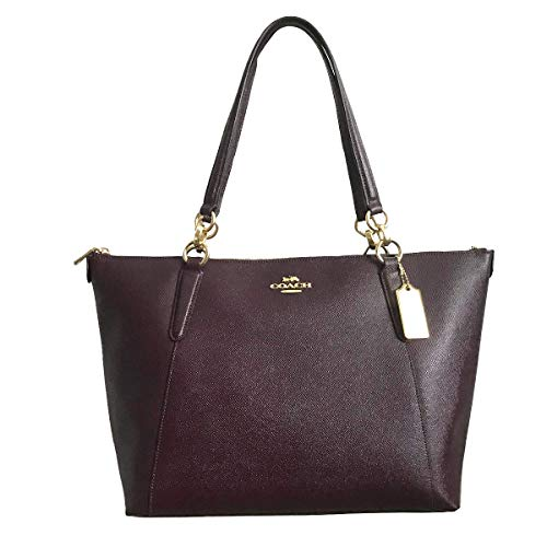 (Coach AVA Leather Shopper Tote Bag Handbag (Raspberry))