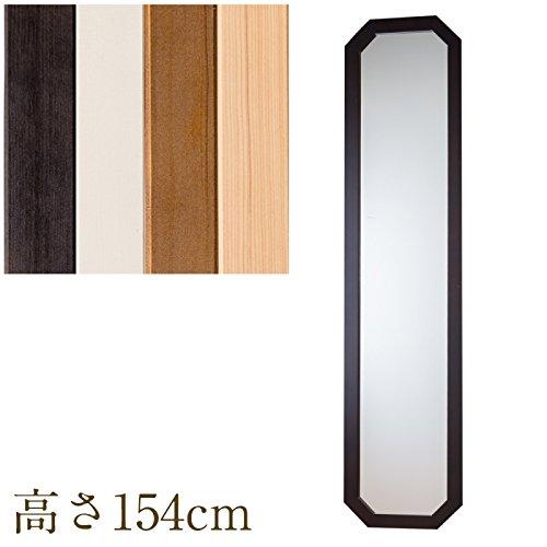 鏡 全身 日本製 ウォールミラー八角 縦長 高さ154cm W8-150(アイボリー) B015SCI74A アイボリー アイボリー