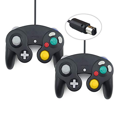 (Gamecube Controller, 2 Packs Classic Wired Controllers Compatible for Wii Nintendo Gamecube)