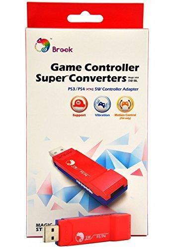 CtrlDepot Brook Converter Switch: PS3/PS4 to Nintendo Switch/Wii U USB Super Controller Converter Adapter