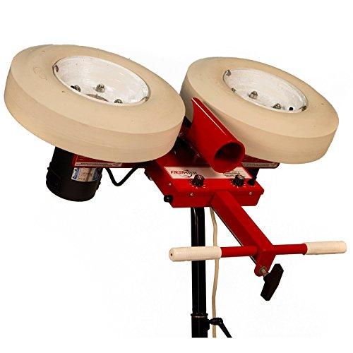 (First Pitch Two Wheel Curveball Baseball Pitching Machine Up to 105mph)