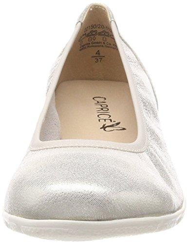 Donna Caprice Ballerine 112 22150 Bianco Glitter Offwht vwxgr4qEnw