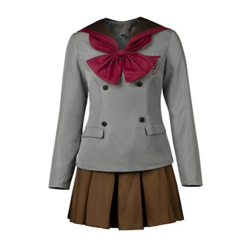 Cosfun Pretty Sailor Cosplay Crystal Ver School Uniform Dress Suit (Women L, Mars Hino Rei(Crystal))