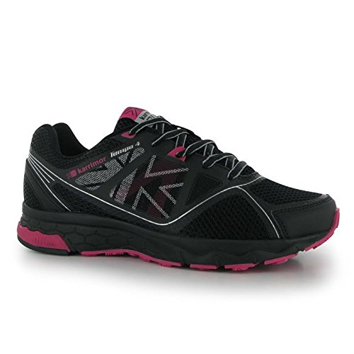 Running 4 Shoes Lace Womens Sports Black Footwear Up Lightweight Tempo Pink Silv Karrimor Ladies 4qwWIBxEgw